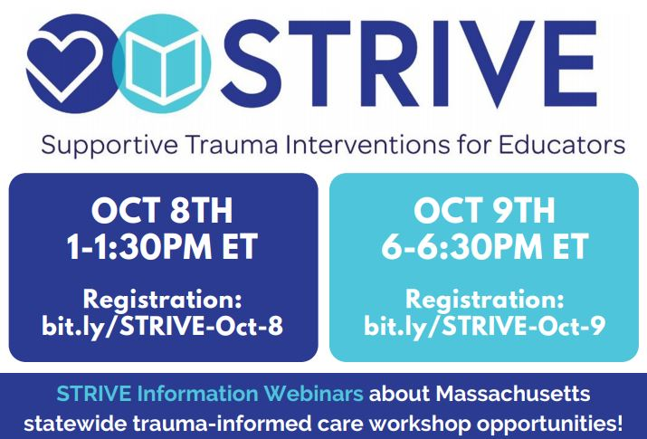 Register for October 8th webinar at bit.ly/STRIVE-Oct-8